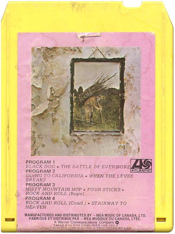 Led Zeppelin IV eight-track