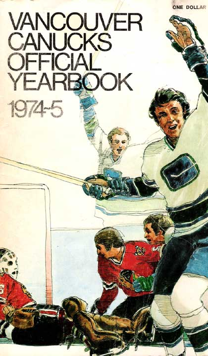 Bummed About the NHL Lockout? Vancouver Canucks Official Yearbook 1974-75
