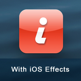 Web Page Icons: Our Graphic with iOS-added Effects