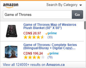 Amazon Search Widget e.g.